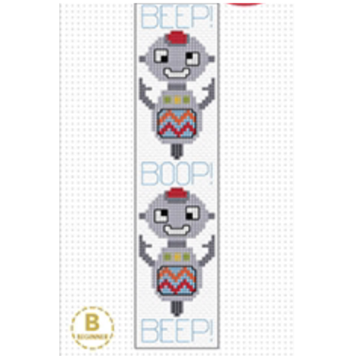 Robot Bookmark Cross Stitch Kit by Create Handmade