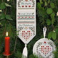 Christmas Hearts Sampler and Ornament by The Victoria Sampler