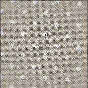32CT Belfast Zwiegart Linen Natural with White Dots 5379 Per Meter