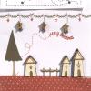Merry Christmas Village Buttons by The Bee Company