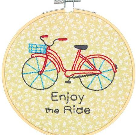 Enjoy the Ride Embroidery Kit by Dimensions -