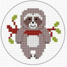 Cross Stitch Sloth Kit by Create Handmade