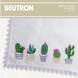 Cactus Rectangle Tray Cloth by Beutron