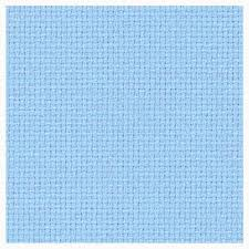 14CT Aida Zwiegart Per Metre Light Blue