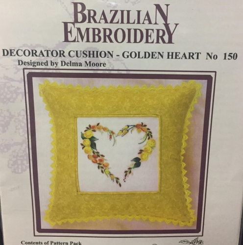 Decorator Cushion Golden Heart by Blackberry Lane