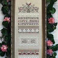 Love is Patient Sampler by Victoria Sampler