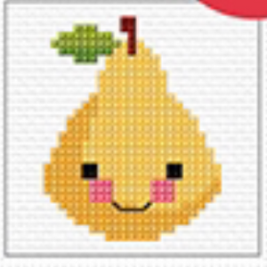Cross Stitch Mini Pear Kit by Create Handmade