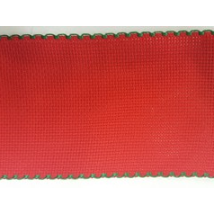 8cm Aida Band Per Metre Red/Green