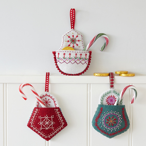 Christmas Pocket Embroidery Kit by Nancy Nicholson