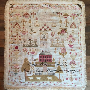 Mary Barres Sampler by Stacy Nash Primitives