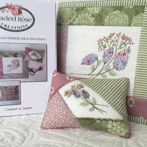 Summer Lilacs Needlecase & Pincushion by Faded Rose Creations