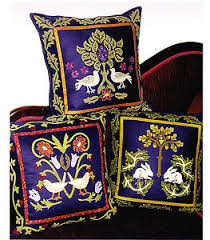 William Morris Trio Of Cushions By Michele Hill