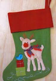 Reindeer Stocking By Windflower Embroidery