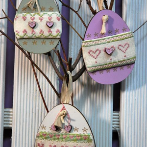3 Spring Eggs Cross Stitch Kit By The Bee Company