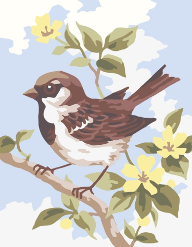 Brown Wren Tapestry By Collection D'Art