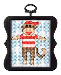 Bucilla Monkey Cross stitch Kit