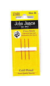 John James Tapestry Needles Gold