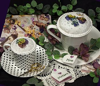 Pansy Pincushion Kit By Victoria Sampler