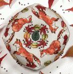 Ring a Ring 'O Foxes Biscornu by Faby Reilly Designs