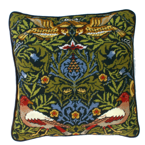 William Morris Bird Tapestry Cushion by Bothy Threads