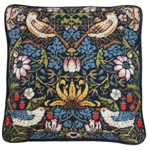 William Morris Strawberry Thief Tapestry Cushion by Bothy Threads