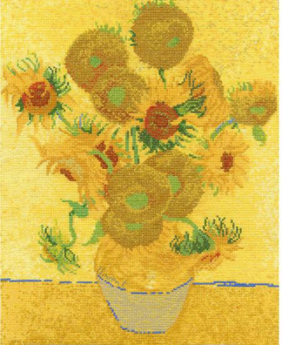 Van Gough Sunflowers Cross Stitch Kit