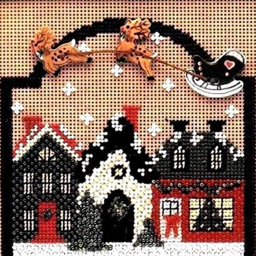 Christmas Village Holiday IV by Mill Hill - Buttoned and Beaded Kit