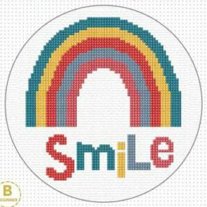 Cross Stitch Smile Kit by Create Handmade