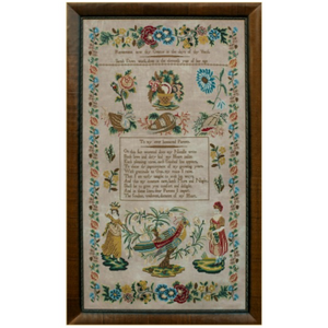 Sarah Daws Circa 1840 by Hands Across the Sea Samplers