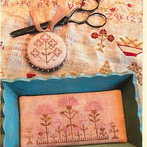 Snippets Of Mary Barres Sampler Small Sewing Tray & Pin Disk by Stacy Nash Primitives