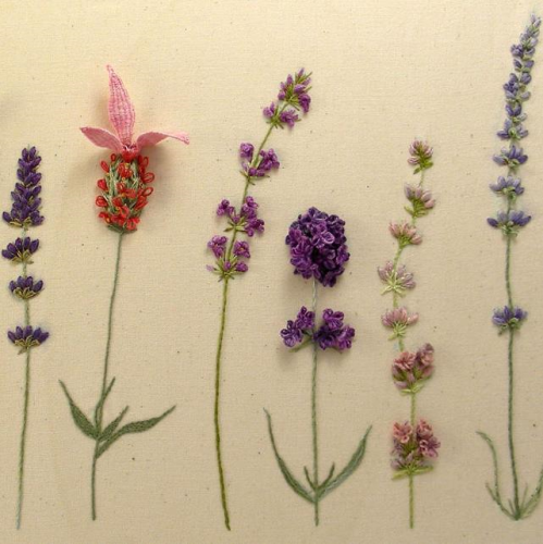 Lavender Sampler Kit by Windflower Embroidery