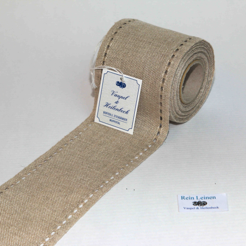 Linen Band 28CT Hemstitch Ribbon 8cm Wide