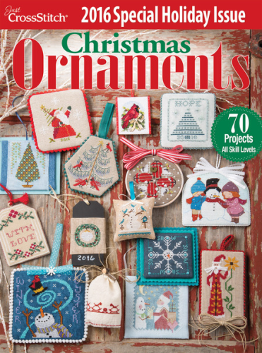 Just Cross Stitch Christmas Ornaments 2016