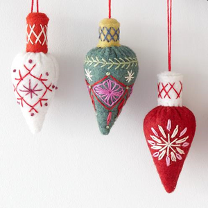 Cone Bauble Embroidery Kit by Nancy Nicholson
