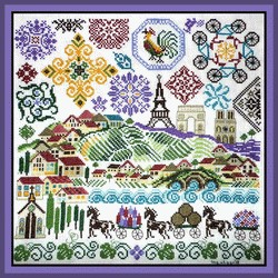 Quakers in France by Tempting Tangles Designs - Chart only