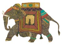 Indian Elephant By Roseworks Designs