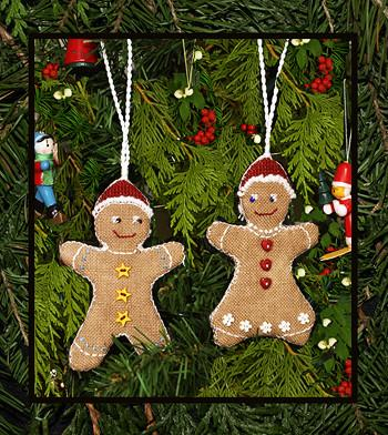 Gingerbread Cookie Ornaments By Victoria Sampler