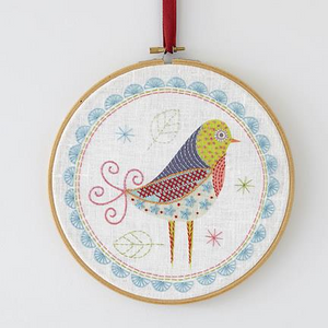 Birdie 1 Embroidery Kit by Nancy Nicholson