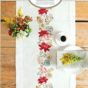 Rico Table Runner  68287 Autumn Flowers