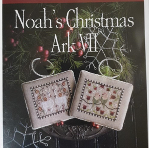 Noah's Christmas Ark No.7 (Llamas and Lovebirds) by Plum Street Samplers