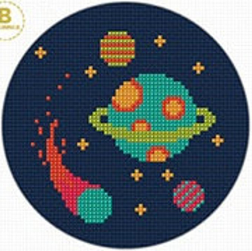 Galaxy Cross Stitch Kit by Create Handmade