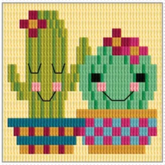 Needlepoint Cactus Kit by Create Handmade