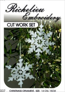 Snowflake Cutwork Kit - Richelieu Embroidery by Joanna