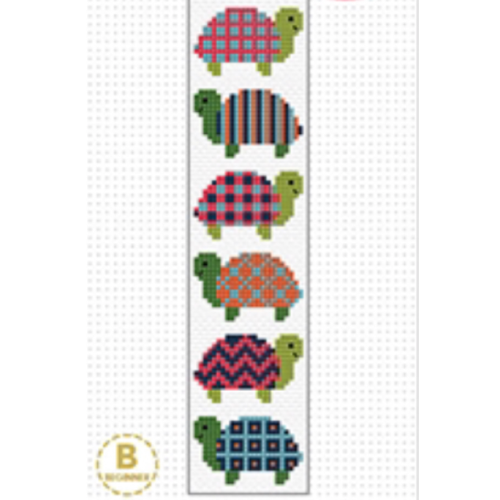 Turtle Bookmark Cross Stitch Kit by Create Handmade