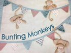 Bunting Monkeys By Windflower Embroidery