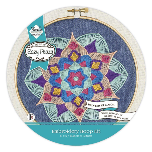 Mandala Embroidery Kit by Needle Creations