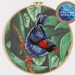 DMC Stamped Cross Stitch Parakeet