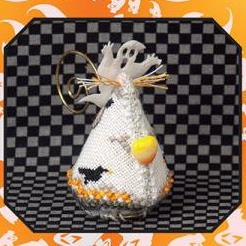 Candy Corn Ghost Mouse Limited Edition by Just Nan