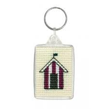Beach Huts Keyring Kit by Textile Heritage