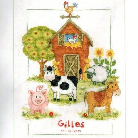 Vervaco At The Farm Cross Stitch kit 0148149